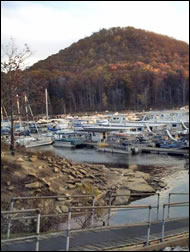 Houseboats at Scotts Creek Marina
