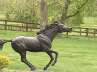 Journeys End Lodge Horse Statue